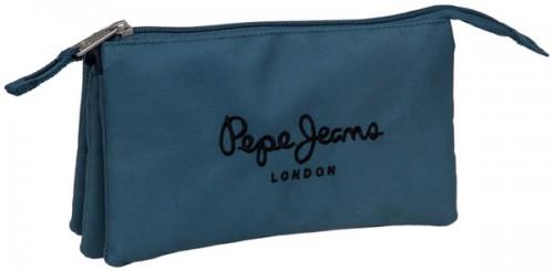 estuche triple pepe jeans 6044351 3 compartimentos