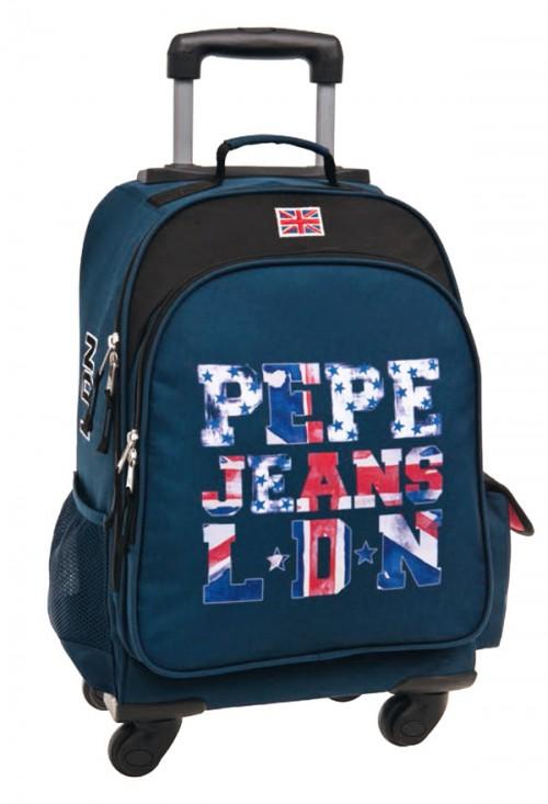 mochila 4 ruedas pepe jeans letters logo 60628
