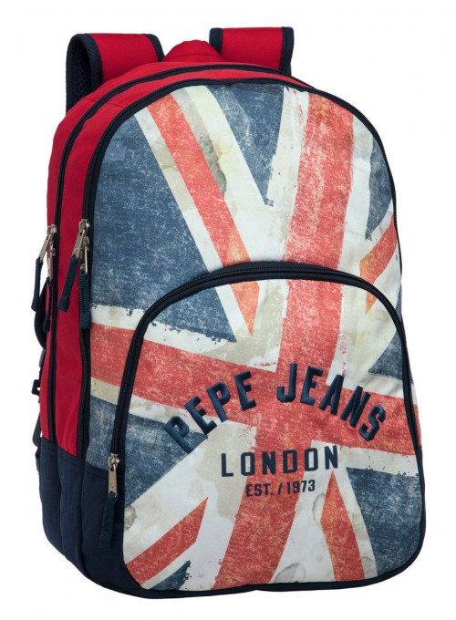 mochila doble pepe jeans 6052451 adaptable a carro