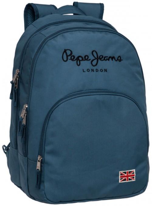 mochila pepe jeans 6042451 adaptable doble compartimento