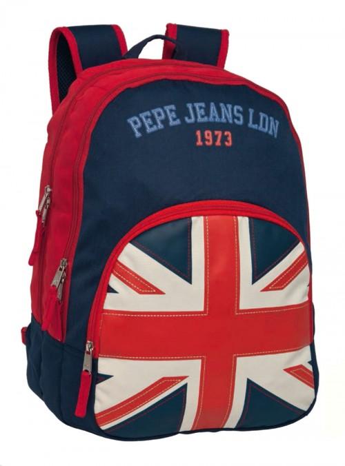 mochila pepe jeans adaptable a carro doble cremallera  1932401