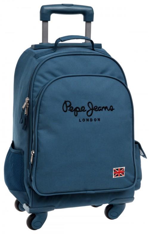 mochila pepe jeans original pepe blue  6042851