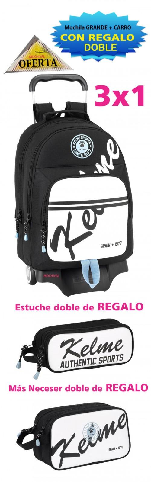 oferta mochila con carro kelme 611521313