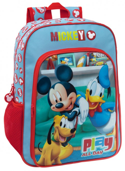 Mochila Mickey Play 45223A1 Adaptable