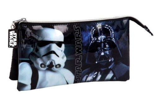 estuche  star wars 3 compartimentos 4234351