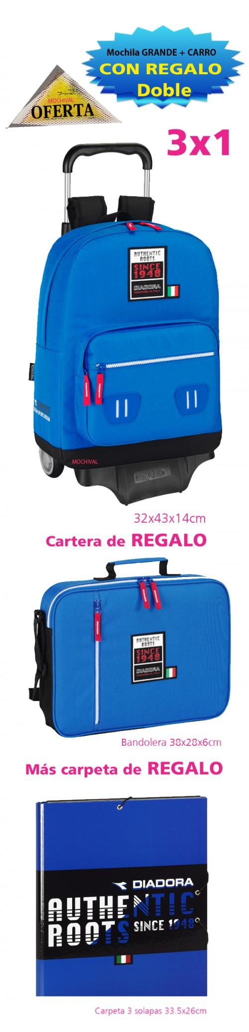 611519754c mochila diadora con carro