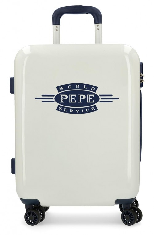 7681061 maleta cabina pepe jeans luggage blanco 4 ruedas
