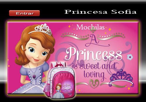 mochilas princesa sofia