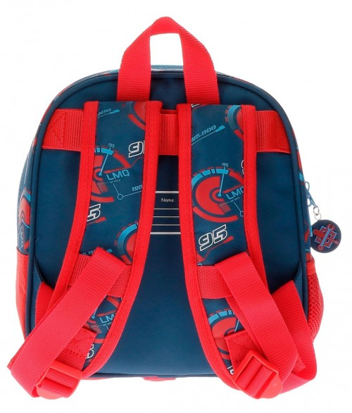 Mochila de Guarderia Cars Race Adaptable 21520B1 trasera