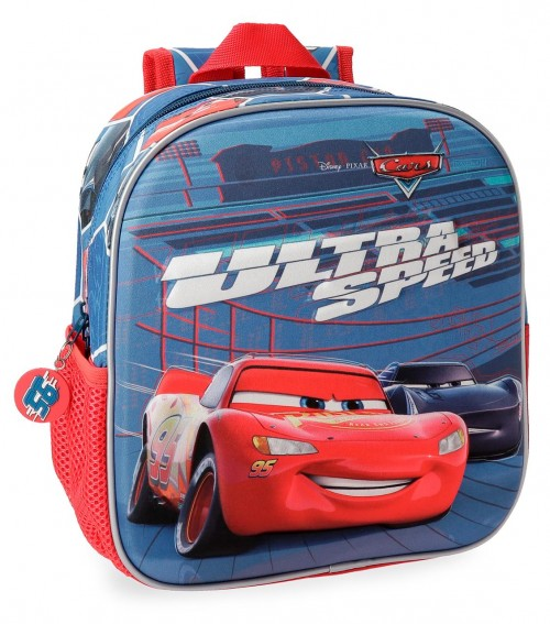 2282061 mochila 25cm en 3 dimensiones cars ultra speed