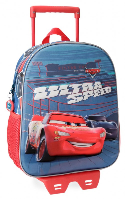 22822N1 mochila 33 cm 3d carro cars ultra speed