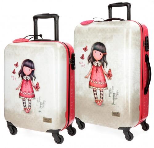 3131661 Juego maleta cabina y mediana gorjuss time to fly