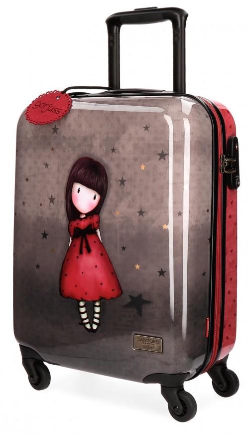 3191461 maleta de cabina gorjuss the black star 4 ruedas