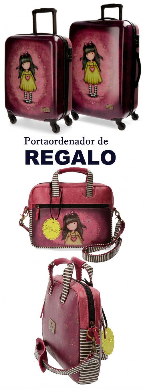 Juego 2 maletas Gorjuss Heartfelt 3511651 portaordenador de regalo