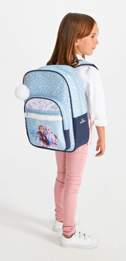 2542361 mochila 38 cm adaptable frozen II trust your journey detalle