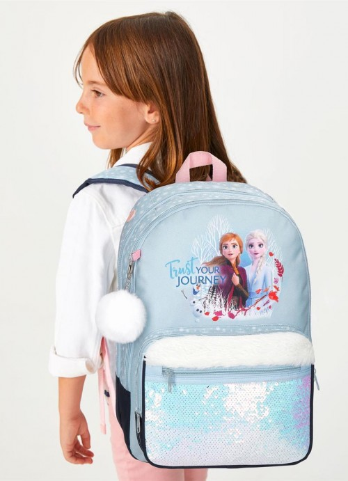 2542461 mochila doble 42 cm frozen II trust your journey detalle
