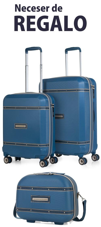 5600002 Juego maleta cabina y mediana Victorio & Lucchino Mercurio Azul