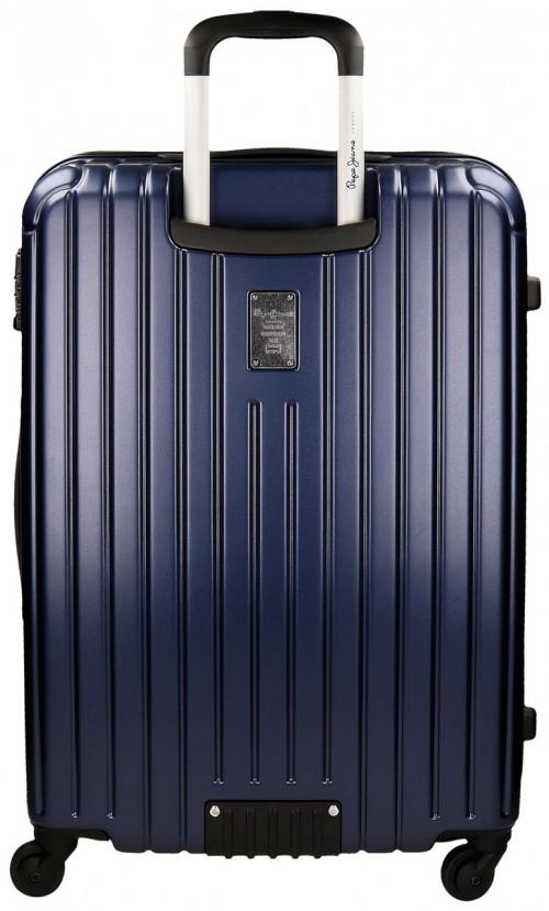 Maleta Mediana Stripes Azul 7877853 Dorsal