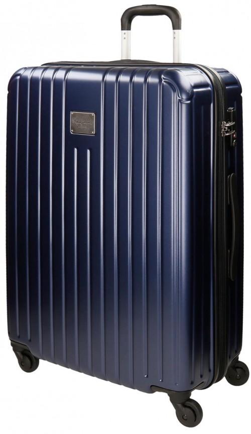 Maleta Mediana Policarbonato Stripes Azul 7877853