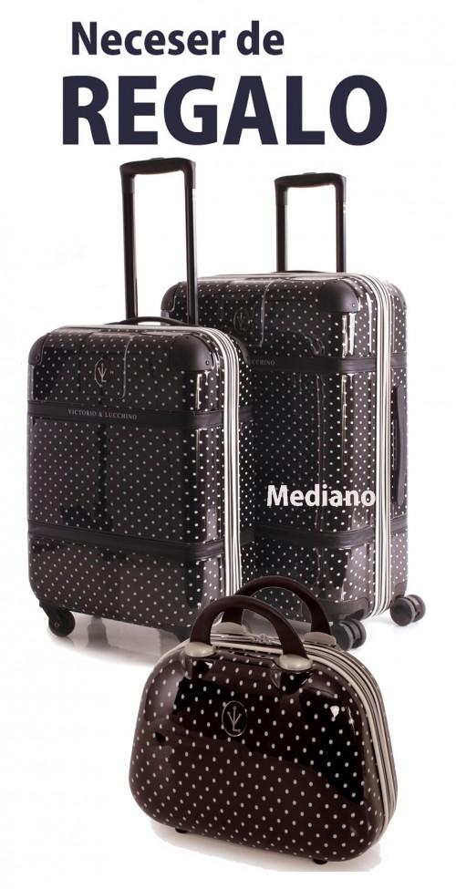8010001 Maleta Mediana  Victorio & Lucchino Negra