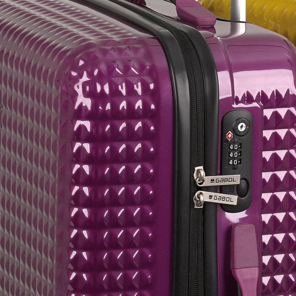 Frase Canberra Colonos  Maleta de Gabol Quartz Ciruela Cerradura TSA - 🥇 Mochilas y maletas  MOCHIVAL