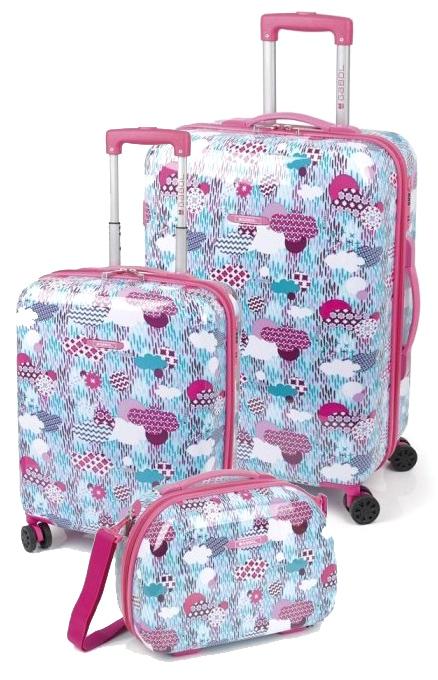 222004 juego maletas cabina y mediana gabol colección color