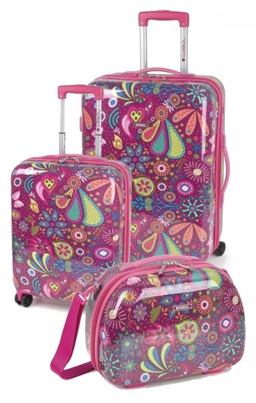 221904 juego maletas cabina y mediana gobol  lucky
