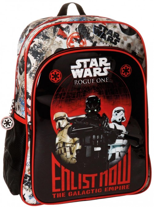 28323a1  mochila 40 cm adaptable star wars