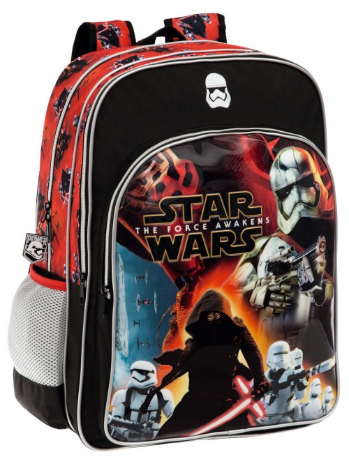 Mochila Star Wars Baattle  25924A1 Doble Cremallera Adaptable a Carro