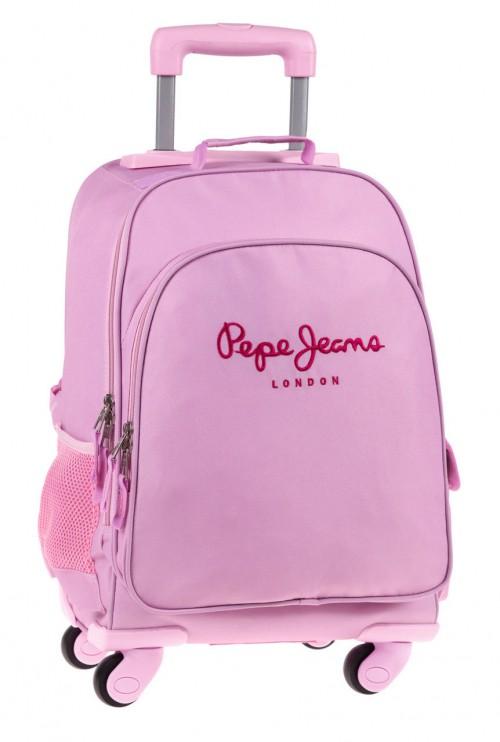 6472851r  Mochila 4 Ruedas Pepe jeans  Pink
