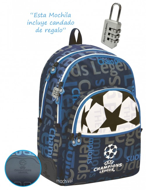 Mochila Reforzada Champions League 401067 Adaptable a carro