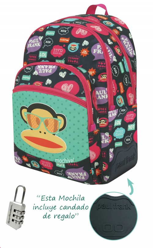 Mochila Reforzada Paul Frank 582032 Adaptable a carro