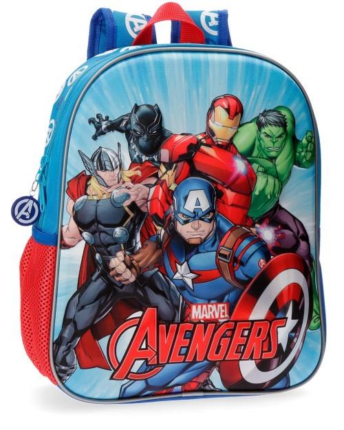 4392261 mochila 33 cm avengers team en relieve 3d