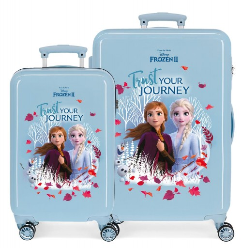 2541661 juego maletas cabina + mediana frozen II trust your journey