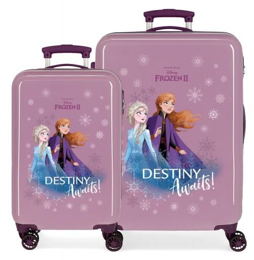 2551661 juego maletas cabina + mediana frozen II destinity awaits