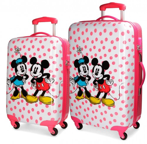 3091961 set 2 trolleys cabina y mediano mickey & minnie