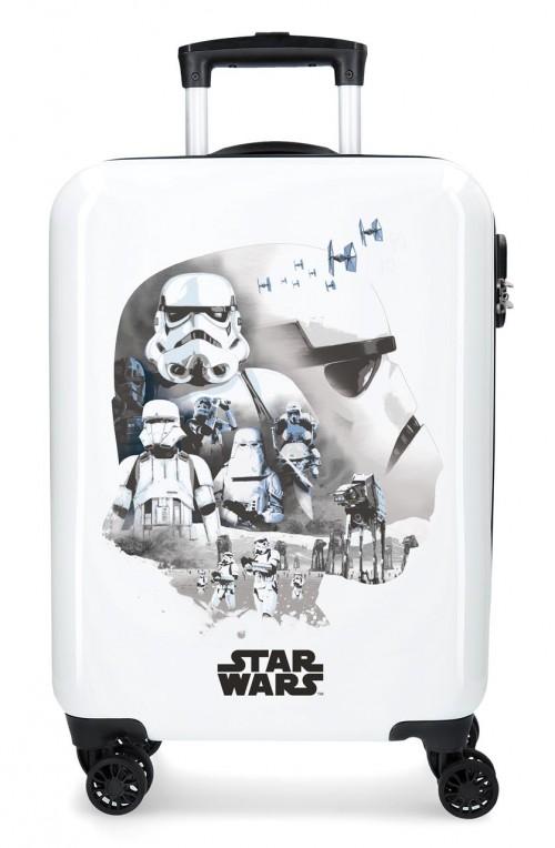 3711762 Maleta de Cabina Star Wars Troopers Blanco 4 Ruedas