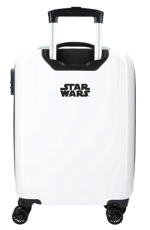 3711763 maleta de cabina star wars blanco  troopers bb8  trasera