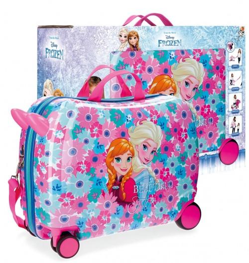 43498C1 maleta infantil 4 ruedas frozen flowers con caja