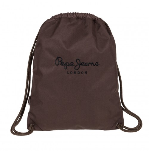6343854 Gym Sac Pepe Jeans Plain Color chocolate