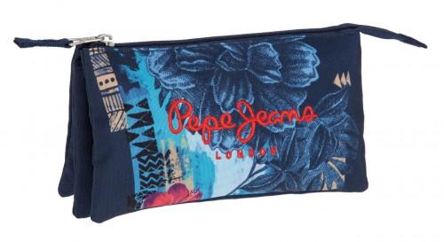 6424351 Portatodo triple Pepe Jeans Mangrove