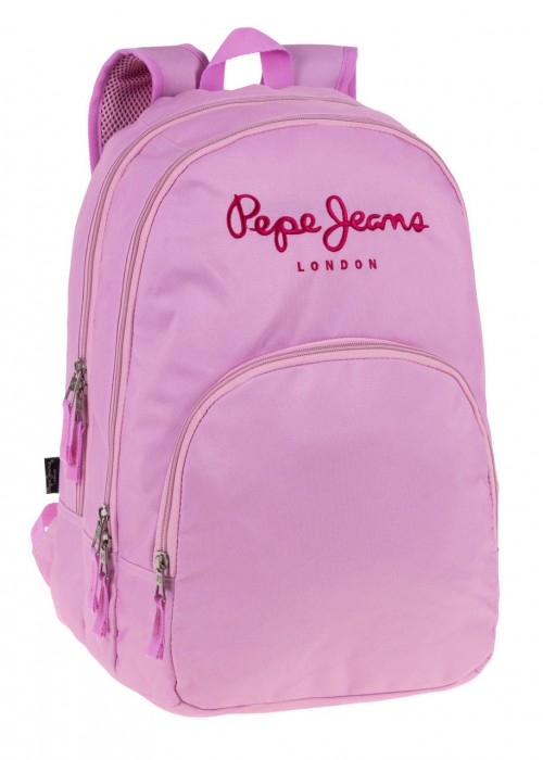 64724A1 Mochila Pepe Jeans Pink 2 Compartimentos Adaptable a carro