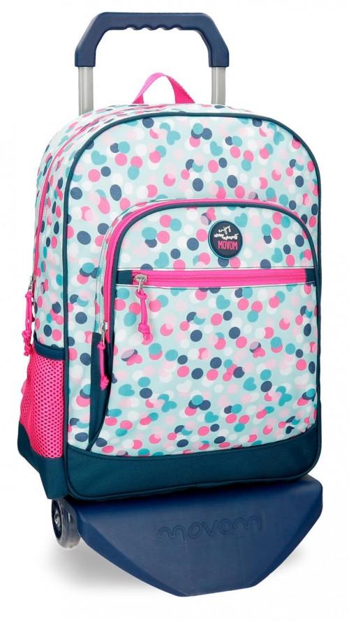 31623N1 mochila con carro movom confeti azul