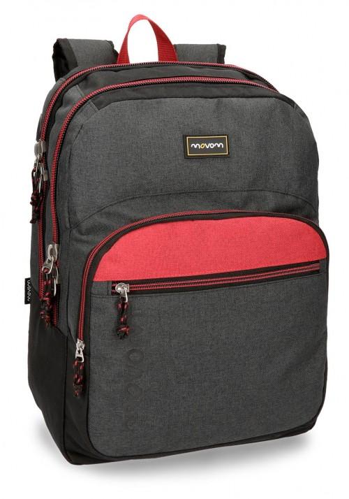 3182461 mochila doble compartimento movom negro