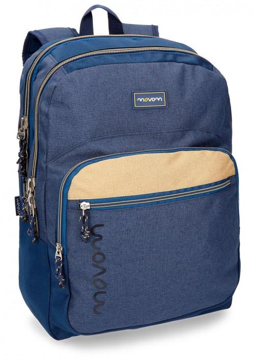 3182462 mochila 2 c. movom babylon azul