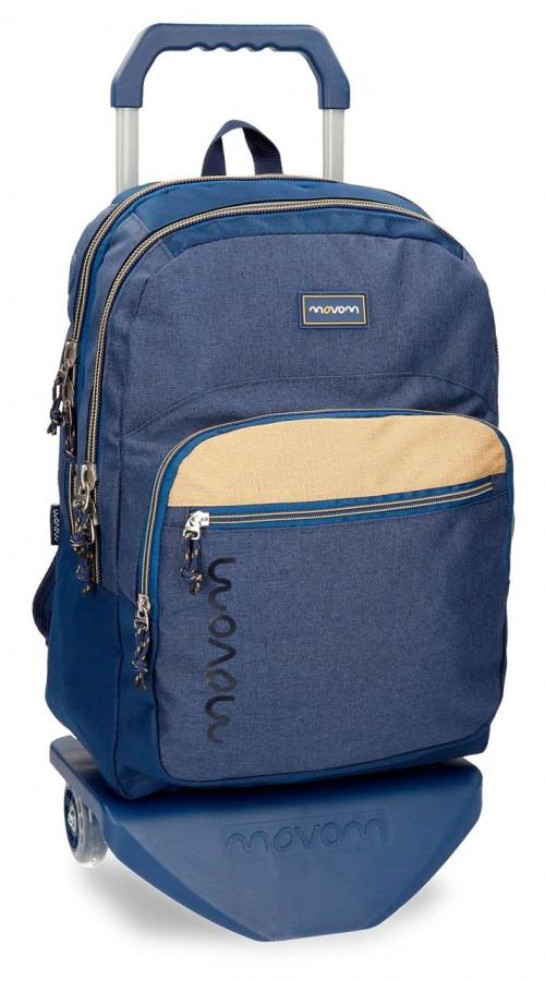 31824N2 mochila doble c. con carro movom babylon azul