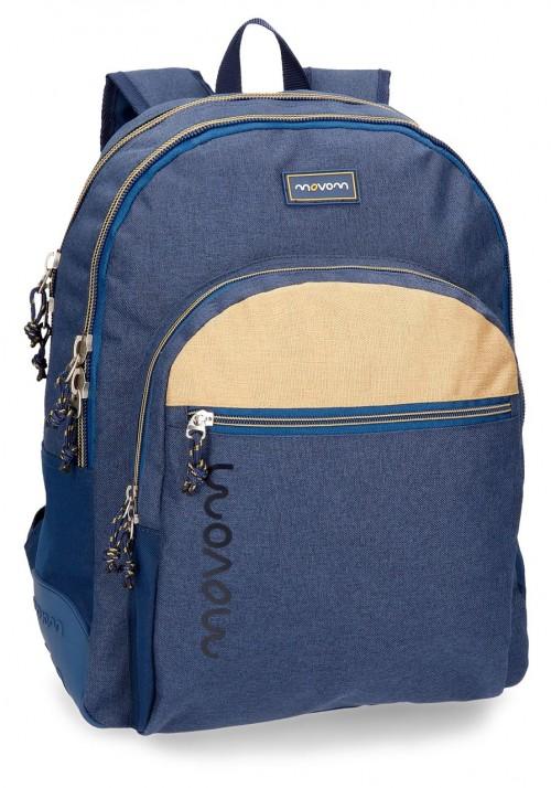 3182662 mochila doble c. reforzada movom babylon azul