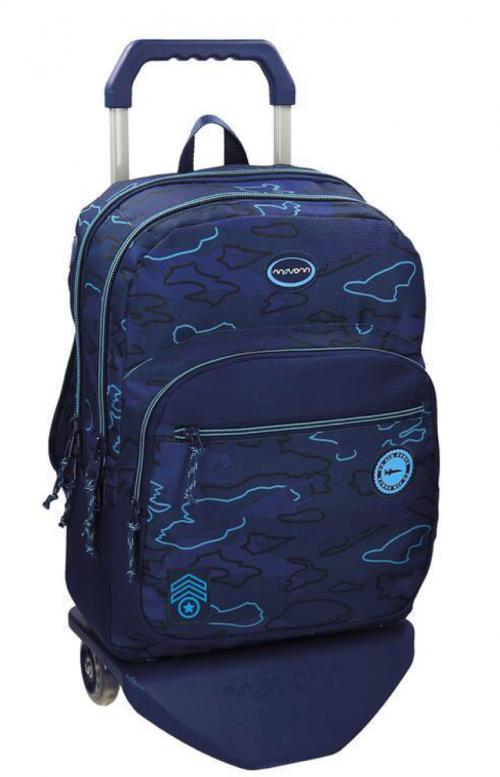 Mochila Doble Movom Azul Carro 50724N1