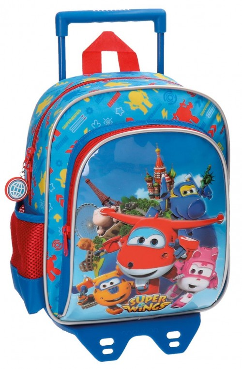 Mochila Carro Guardería 28 cm Superwings 28421M1