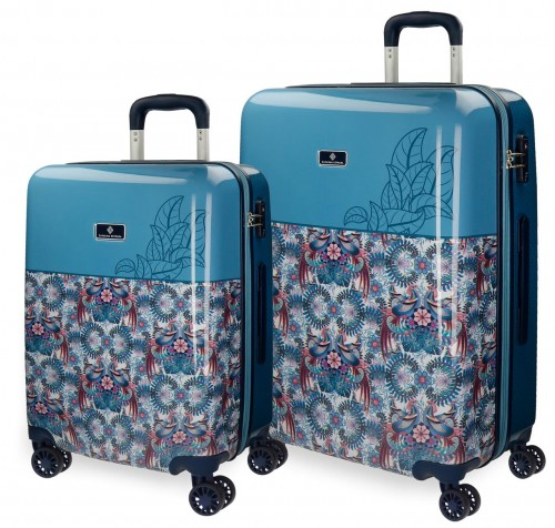5568961 juego maletas cabina y mediana catalina estrada faisan azul